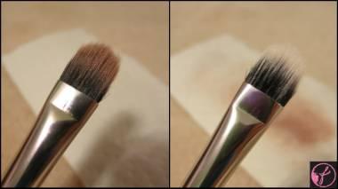 Como ficam os pinceis de maquiagem lavados