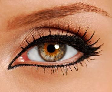 Fotos de maquiagem semi-permanente nos olhos