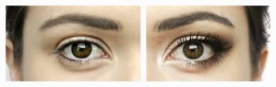 Maquiagem para olhos caídos antes e depois