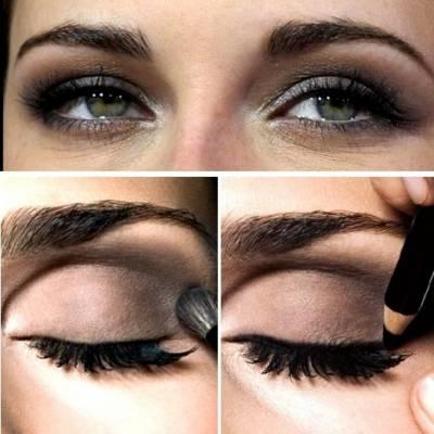 Como aumentar olhos caídos com maquiagem