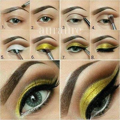 Maquiagem amarela para a copa 2014 passo a passo