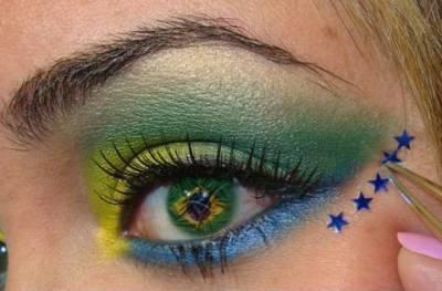 Maquiagem bandeira do Brasil