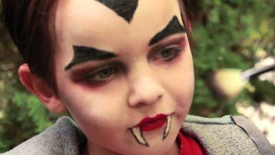 Maquiagem de Halloween infantil e feminino