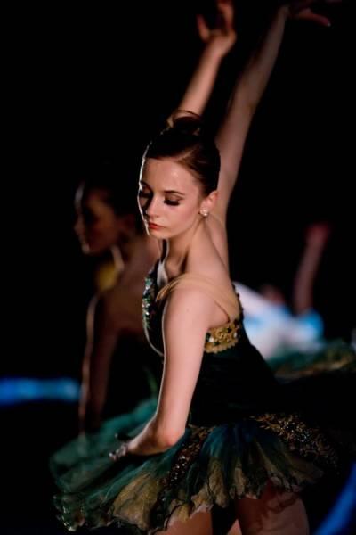 maquiagem para apresentação de ballet a noite