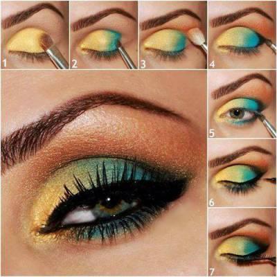 Tutorial maquiagem verde e amarela