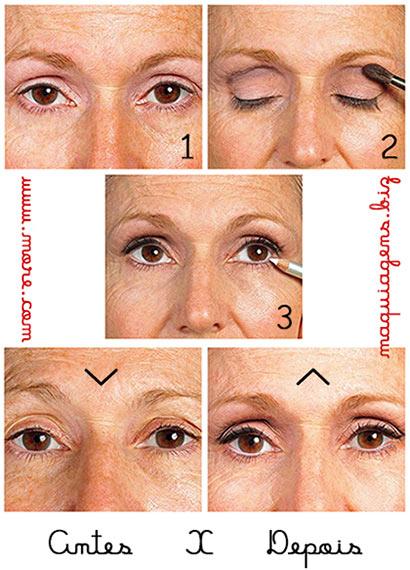 Super Maquiagem para Olhos Caídos Passo a Passo - Fotos e Dicas! VZ11