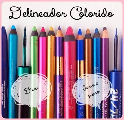 dicas de como usar delineador colorido