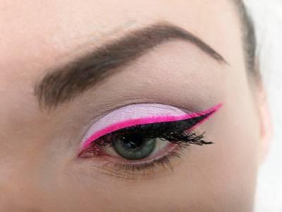 maquiagem rosa com preto da moda