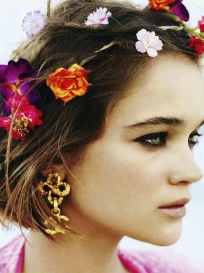Fotos de maquiagem hippie chic moderna