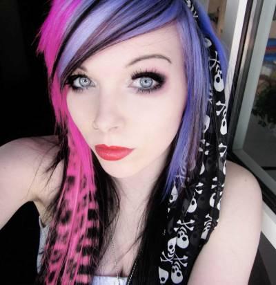 Maquiagem emo linda legal