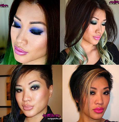 Maquiagem colorida para festa de 15 anos - convidadas