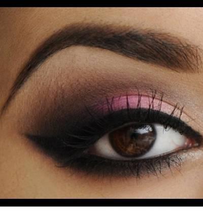 Tutorial maquiagem rosa com preto passo a passo