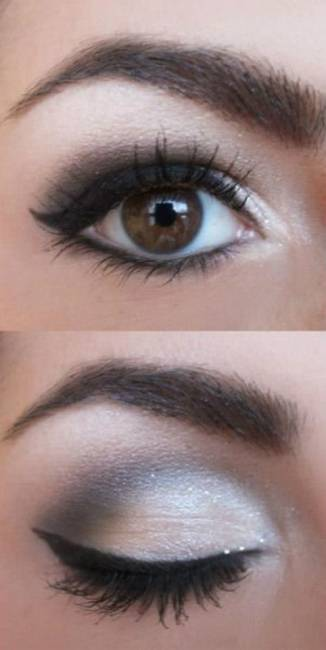 Maquiagem para noite vestido azul marinho