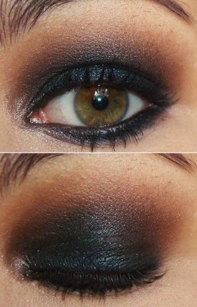 Maquiagem para morenas claras passo a passo - olho preto
