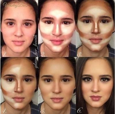 Maquiagem para afinar o rosto 2018