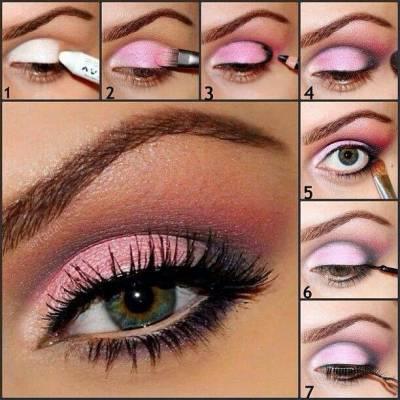 maquiagem rosa e preto para noite passo a passo