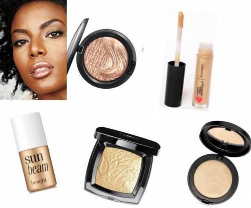quais as cores de maquiagem para pele negra