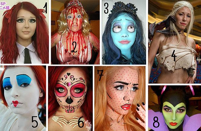 maquiagens simples e faceis para halloween - feminina