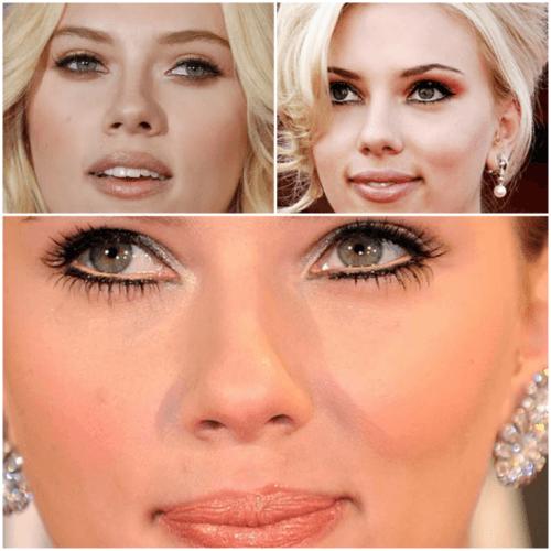 Fotos de famosas com maquiagem que faz olhos maiores