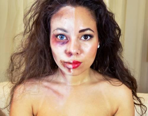 Fotos de maquiagem para Halloween - zumbi feminina