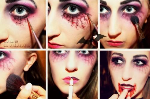 melhor maquiagem de halloween vampira passo a passo