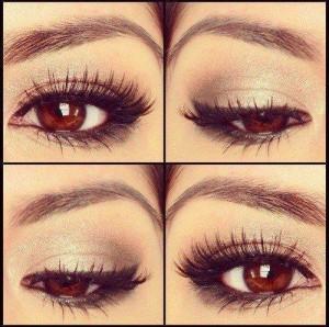 maquiagem para destacar olhos castanhos claros