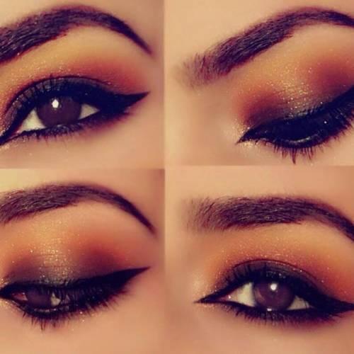 Maquiagem para olhos castanhos escuros passo a passo