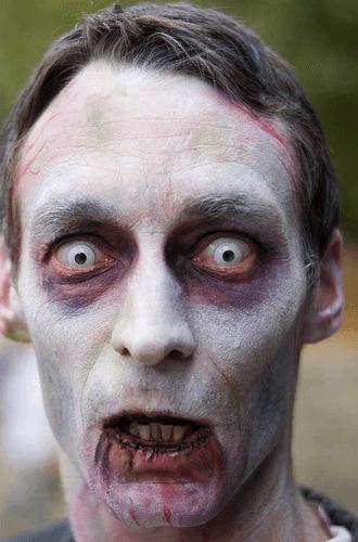 maquiagem de zumbi masculina passo a passo