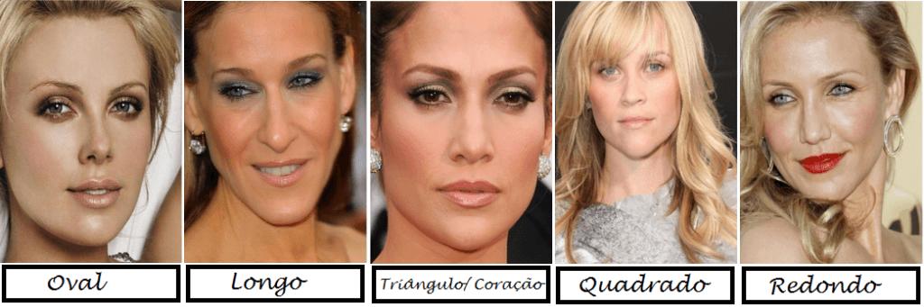 Truques de maquiagens para cada formato de rosto