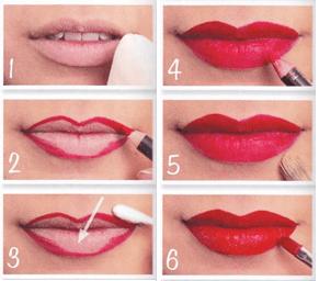 truques de maquiagem para lábios