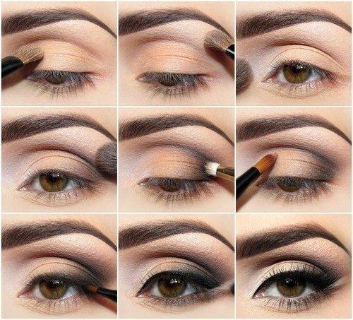 maquiagem para aumentar os olhos passo a passo