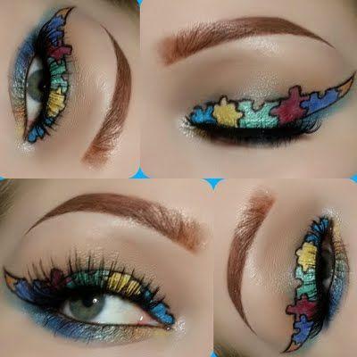 Maquiagem com delineador colorido diferente passo a passo