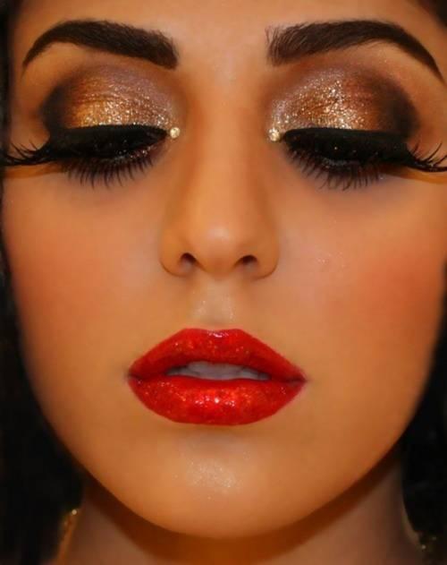 Fotos de maquiagem vermelha para noite