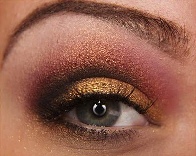 Como fazer maquiagem vermelha e dourado passo a passo
