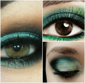 maquiagem verde passo a passo