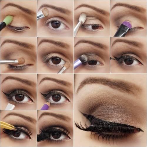 makeup para olhos na colação de grau