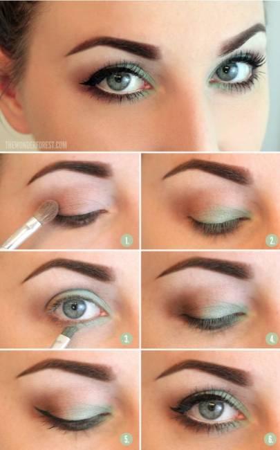 maquiagem verde para o dia
