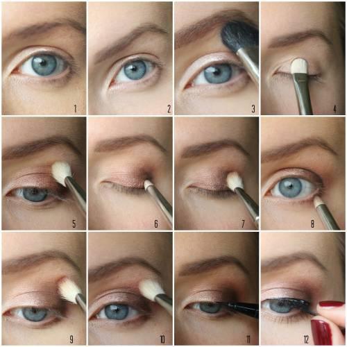 imagens de ideias maquiagem para o natal - olho