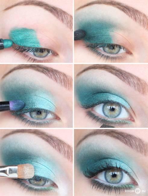 maquiagem verde para festa