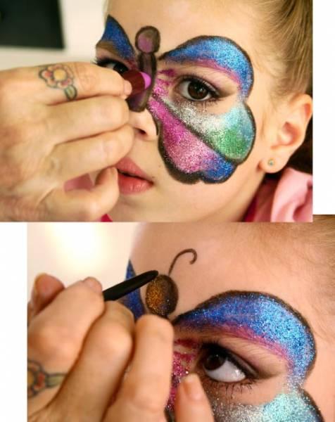 como fazer maquiagem de borboleta