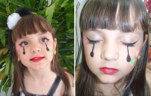 make para meninas - festa de carnaval
