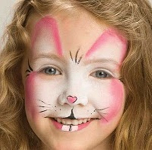 pintura facial de coelho