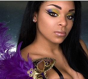 Maquiagens de carnaval para negras