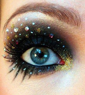Make com glitter e pedras