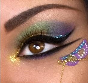 Maquiagem decorada colorida simples
