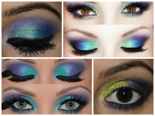 maquiagem colorida pesada