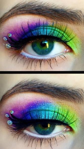 maquiagem arco íris para carnaval
