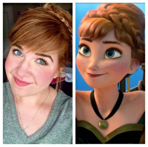Tutorial de maquiagem da Anna Frozen passo a passo
