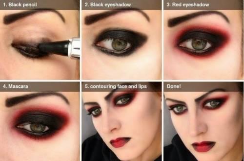 maquiagem de vampira passo a passo