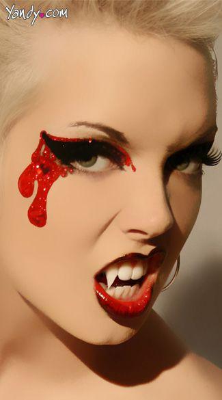 maquiagem de vampira para carnaval com sangue